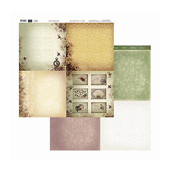 Couture Creations - Drömmande pansies 12x12 tum dubbelsidiga förpackningar med 10 ark
