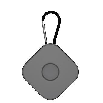 2Pcs for airtags protective case anti lost keychain square  dark gray