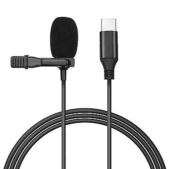 Omni-directional Condenser Lavalier Microphone with Foam Windshield 3m Cable