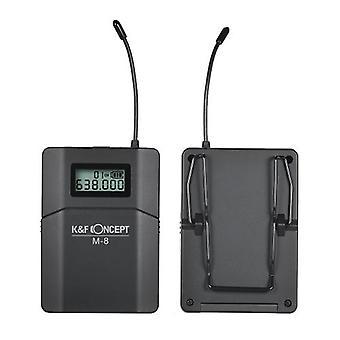 K&F-KONCEPT M-8 UHF Trådlöst Lavalier Lapel Mikrofonsystem med sändare mottagare