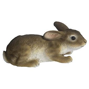 bunny 23.4 x 10.2 cm polyresin brown/white