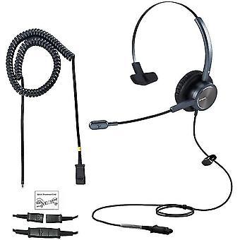 FengChun Kabelgebundenes Call-Center-Telefon-Headset fr Cisco mit U10 QD Kabel RJ9 Buchse Bro