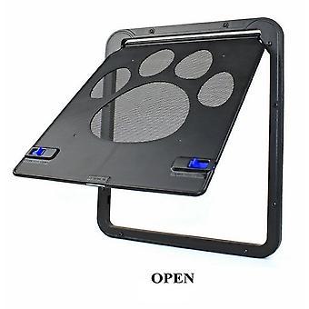 قفل باب الحيوانات الأليفة آمنة الشاشة المغناطيسية في الهواء الطلق ال القطط نافذة دخول بسهولة تثبيت بحرية