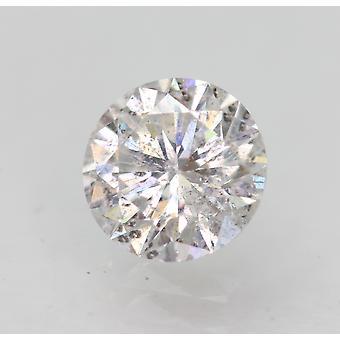 Sertifioitu 0,84 karat D SI2 pyöreä brilliant parannettu luonnollinen löysä timantti 6,1mm