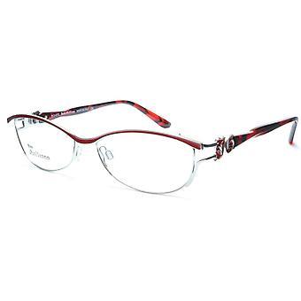 John Galliano Eyeglasses Frame JG5007 066 Metal Silver Red Italy Made 54-16-135