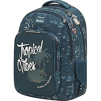 Sportandem Tandem Vibes - GRP/AC double body backpack, for adults, unisex, blue, one size fits all