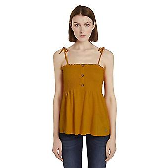 Tom Tailor Smocked T-Shirt, 22502-Yellow Orange, XXL Woman