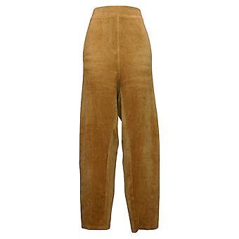 Quacker Factory Women's Plus Pants Pull On Corduroy Slim Leg Camel A279070