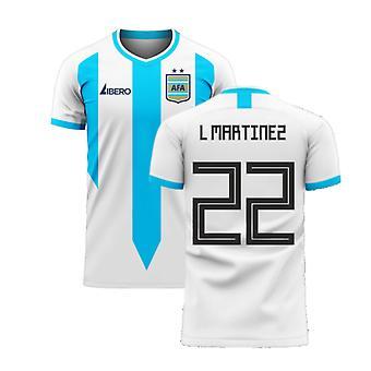 Argentina 2020-2021 Home Concept Football Kit (Libero) (L MARTINEZ 22)