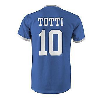 Francesco totti 10 italy country ringer t-shirt