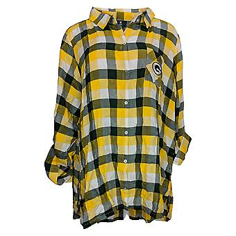 NFL Dames Breakout Flanel Tuniek Shirt Packers XXX-Large
