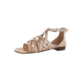 Marc Fisher Womens Spela Cross Weave Sandal Skor