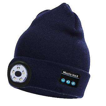 Marine Bluetooth gestrickte Mütze Outdoor Nacht läuft Nacht Angeln LED Beleuchtung Bluetooth Lampe Kappe x2946