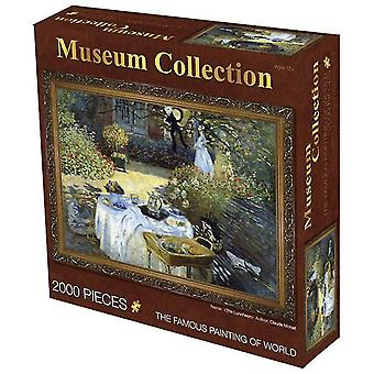 Lunch 2000 pieces of oil painting adult puzzle educational toys,creative decompression birthday gift az4038