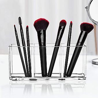3 reikää läpinäkyvä akryyli meikki säilytyslaatikko kotelo