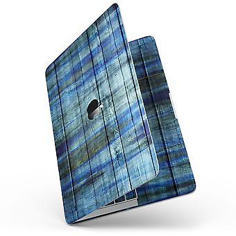"""Blue And Green Tye-dyed Wood - 13"""" Macbook Pro Without Touch Bar Skin"""