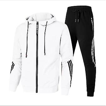 Men's Tracksuit Hooded Fitness Sport Suits Gym Hoodie 2 Piece Hoodies Joggers