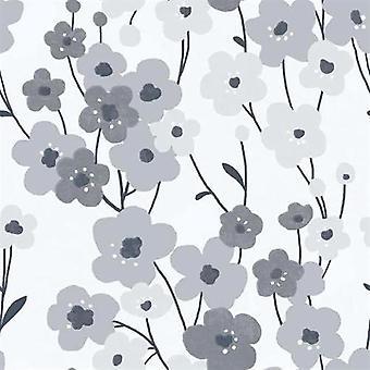 Tempo Poppy Grey Wallpaper
