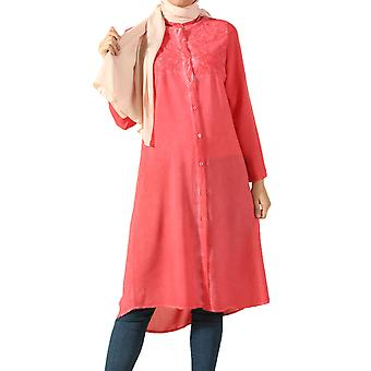 Viscose Top Robes Embroidered Shirt Tunic