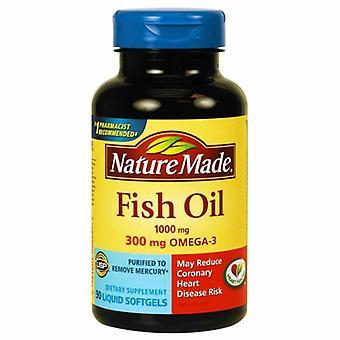 Nature Made Fish Oil, 1000 mg, 90 Liquid Softgels