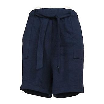 AnyBody kvinner's shorts fransk terry slips midje shorts blå A354750