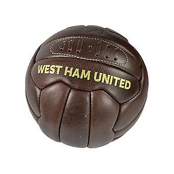 West Ham Retro Heritage Palla in pelle Taglia 5
