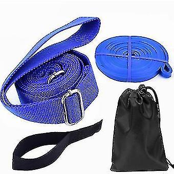 3 metriä jooga fitness -vastusnauhaa, joustava elastinen nauha (sininen)