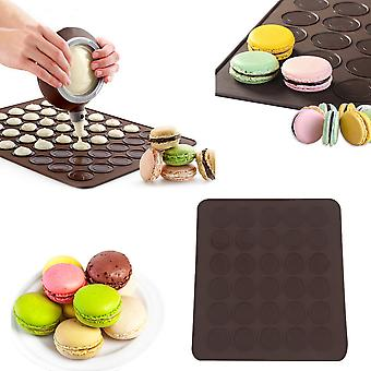 Large 30 Macarons/muffins Silicone Baking Pastry Sheet Mat Cup Cake Mold Tray