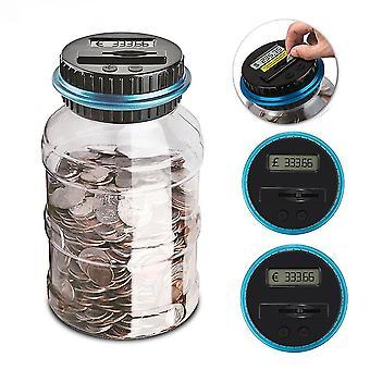 EURO GBP USD כסף חזירון בנק נגד מטבע אלקטרוני דיגיטלי LCD ספירת מטבע כסף חיסכון תיבת צנצנת