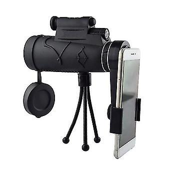 IPRee 50x60 Monokular HD Optik BAK4 Tag Nachtsicht LED Laser Licht Teleskop + Stativ + Telefon halten