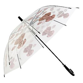 Regenschirm DKD Home Decor Grau Transparent Edelstahl PoE