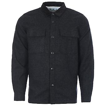 Barbour White Label Peter Wool Overshirt - Charcoal