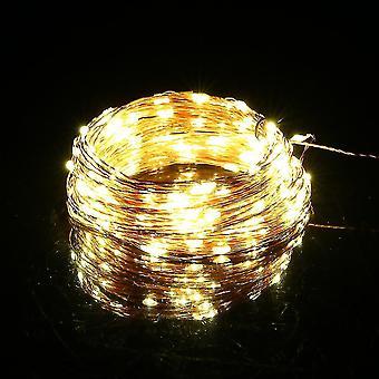 متعدد الألوان 20m 200led النحاس سلسلة الأسلاك الجنية ضوء الصمام أضواء Dc12v