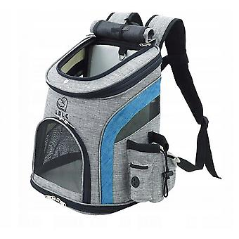 Pet Travel Backpack For Cats & Dogs Folding Pet Backpack Breathable Outdoor Pet Backpack-l Orange Gray