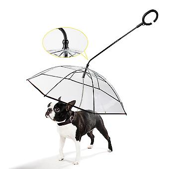 Dog Walking Waterproof Clear Cover Built-in Leash Rain Sleet Snow Pet Umbrella Pet Products boank dog clothes