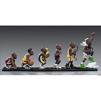 6pcs/lots MOTION MODE Trendy Figures Los Angeles Basketball King Kobe Mamba Road Collectible