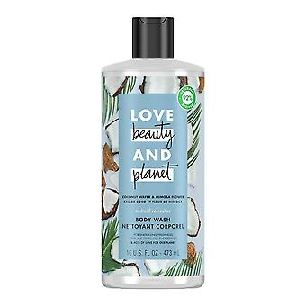 Love beauty and planet radical refresher body wash coconut water and mimosa flower, 16 oz