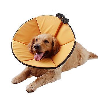 Justerbar vikbar vattentät husdjur hund hals kon återhämtning krage anti bite kirurgi sårläkning