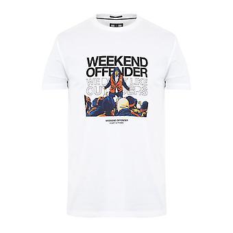 Helgförbrytare bovver t-shirt - vit