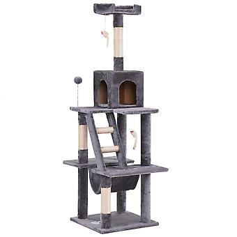 Large Cat Play Tower House With Scratcher Activity Centres With Ladders Condo