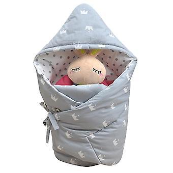 Homemiyn Baby Katoen Quilt Warme Comfortabele Deken Alle Seizoenen (90x90CM)(Grijs)