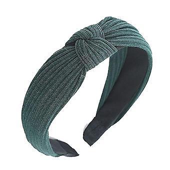 Egyszínű szatén csomózott hajpánt(Zöld)