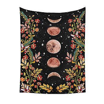Homemiyn Maan Fase Patroon Psychedelische Wandtapijt Muur Opknoping Tapijt Woonkamer Slaapkamer Bed decoratie