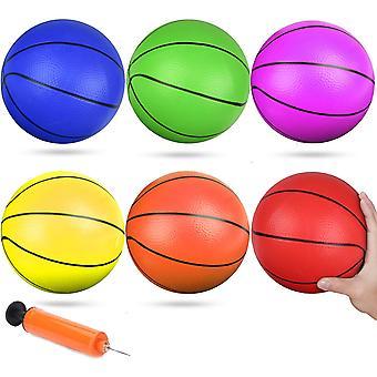 6 Zoll Kleiner Pool Spielen Basketball Mini Gummi Kick Bälle Ersatz Basketball für Strand Tür Basketball Spielen Korb für Kleinkinder Teenager Erwachsene H
