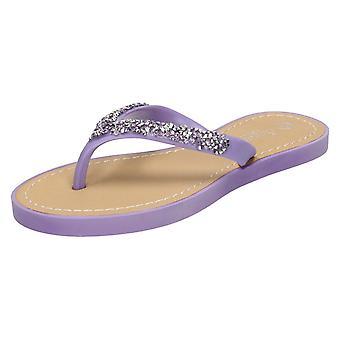 Girls Junior Savannah Diamante Toe Post Sandals H0148