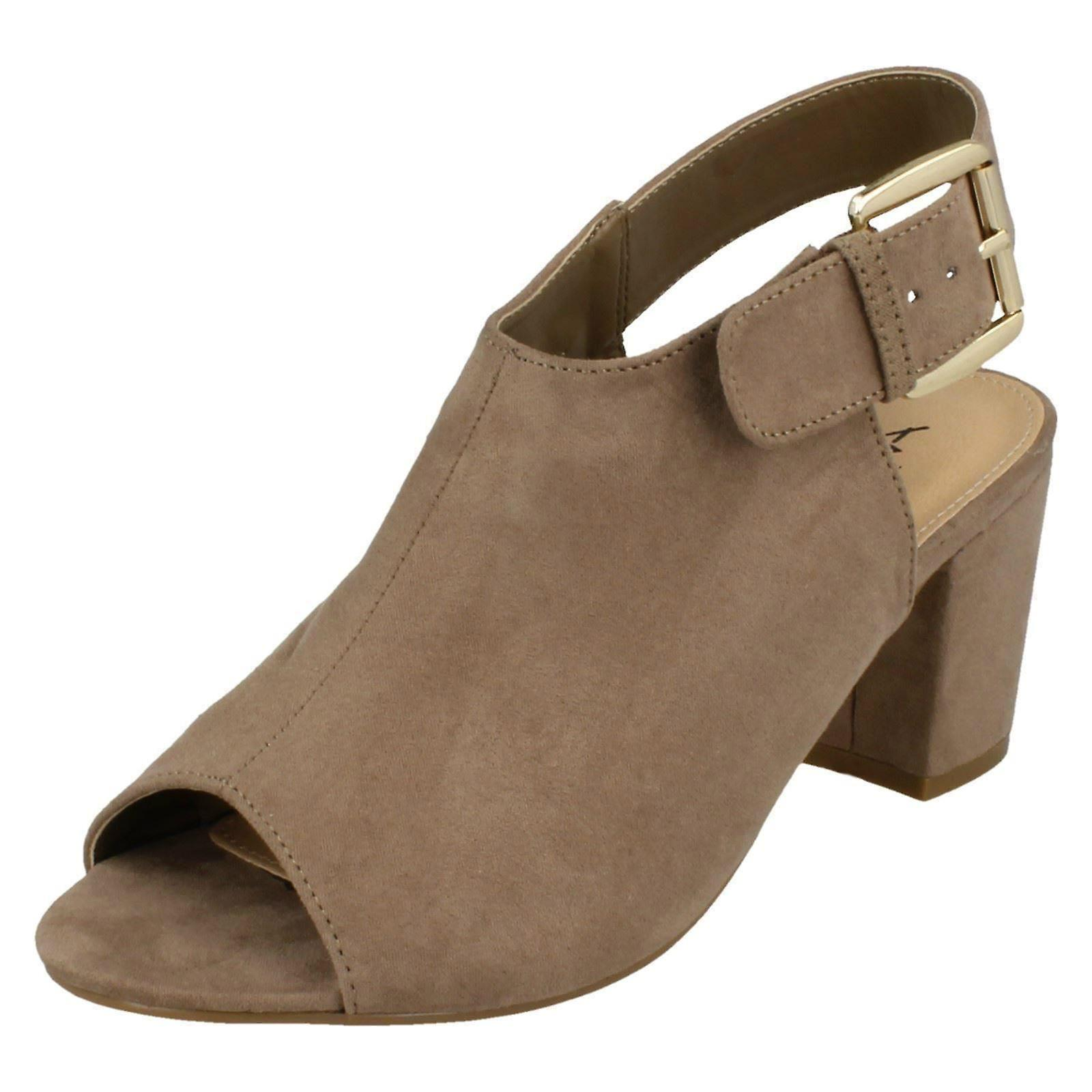Ladies Anne Michelle Buckle Sling Strap Mules F10672 Sm9S0