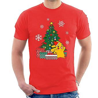 تي شيرت سوبرمان بوكيمون شجرة عيد الميلاد الرجال
