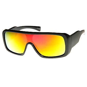 Rechteck Mono Flash-Spiegel Shield Linse Action Sport Sonnenbrille
