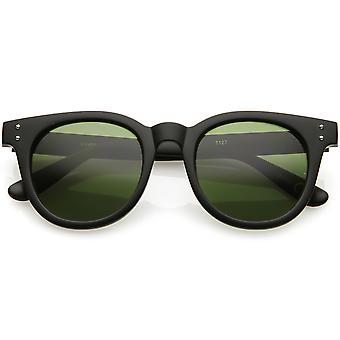 عدسة النظارات الشمسية ريمد مقرن كلاسيكية عالية يجلس الأسلحة جولة لون محايد 49 مم