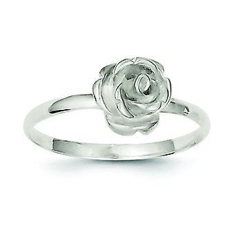 925 Sterling Silber poliert 8mm Rose Ring Schmuck Geschenke für Frauen - Ring Größe: 6 bis 8